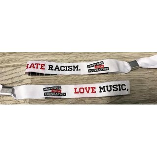 Armband - LOVE MUSIC, HATE RACISM.