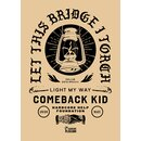 Comeback Kid T-Shirt, black /pocket and backprint M