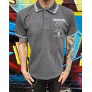 Milos - Polo Shirt / Charcoal /Black S