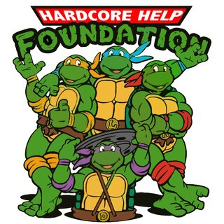 HHF Turtle - Power /withe-3XL